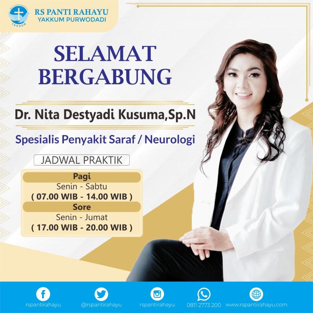Selamat Bergabung dr. Nita Destyadi Kusuma, Sp.N (Spesialis Penyakit Saraf/Neurolologi)